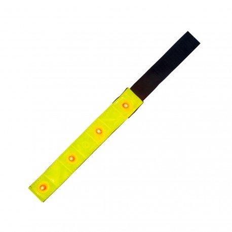 REFLEXNÍ páska 4X LED, na Suchý zip PL-4P04